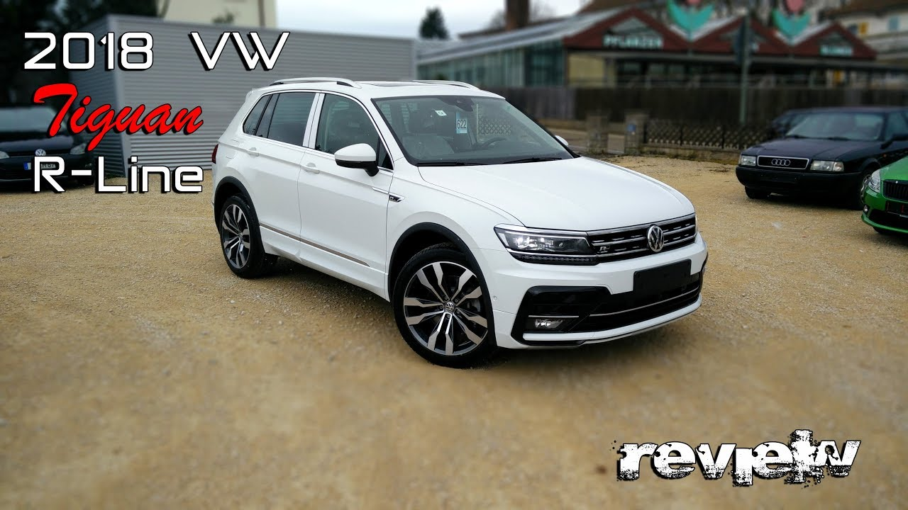 2018 vw tiguan r line pure white 2 0tsi youtube. Black Bedroom Furniture Sets. Home Design Ideas