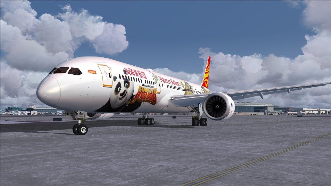 Hainan's **Kung Fu Panda** Boeing 787-9 Dreamliner Winter Landing @ (YYZ)  Toronto