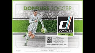 2016 Donruss Soccer - 6 Box Break - PICK YOU TEAM - 2/10 June