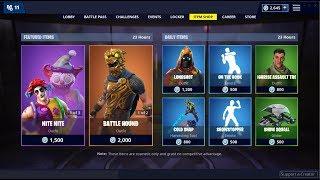 Battle Hound & Clown Skins (Back)! Fortnite Item Shop February 7, 2019