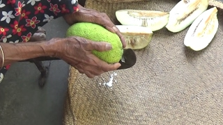 Village Food - Cooking Breadfruit Curry in my Village by Grandma