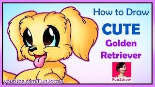 How to Draw a Golden Retriever Dog