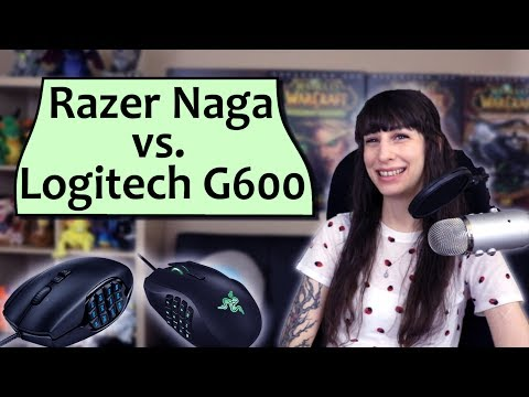 Razer Naga vs Logitech G600 - MMO Gaming Mice Comparison and Review