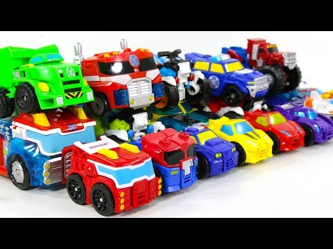 Transformers Rescue Bots Optimus Prime Bumblebee 20 Vehicles Car Robots Toys