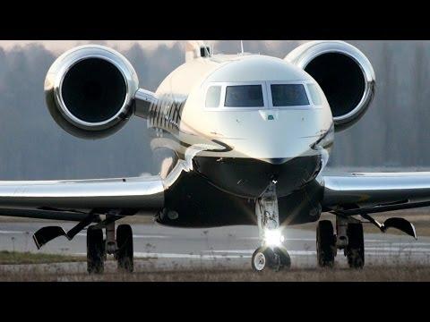 Gorgeous Gulfstream G650 M-USIK Take-Off at Bern Airport