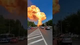 Réservoir d'essence explose dans une station service à Volgograd en Russie