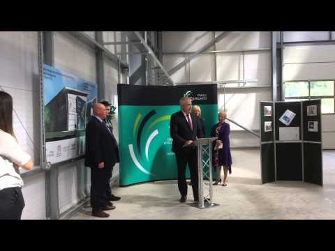 First Minister of Wales Carwyn Jones opening the rail centre of excellence at Coleg y Cymoedd