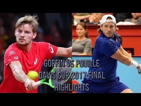 David Goffin (BEL) Vs Lucas Pouille (FRA) - Davis Cup 2017 Final (Highlights HD)