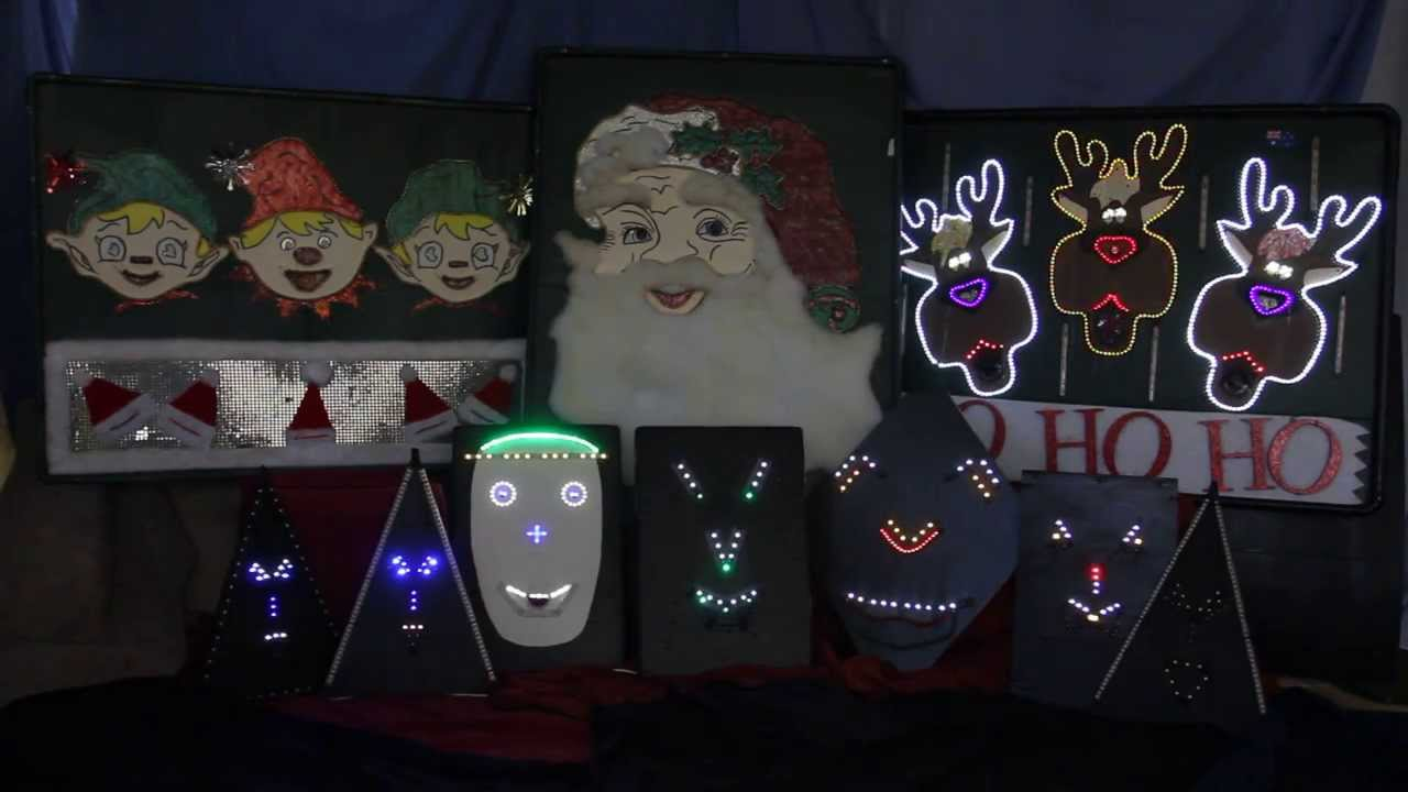 Holiday Lights-Light o Rama - Animated Singing Faces (What do you ...