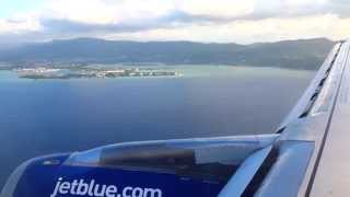 Plane Landing in Montego Bay, Jamaica at Sangster International Airport (MBJ)
