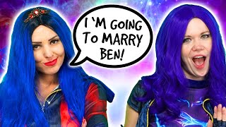 DESCENDANTS 3 TRUTH OR LIE? Mal, Evie and Audrey Play 2 Truths and One Lie. Totally TV Parody.
