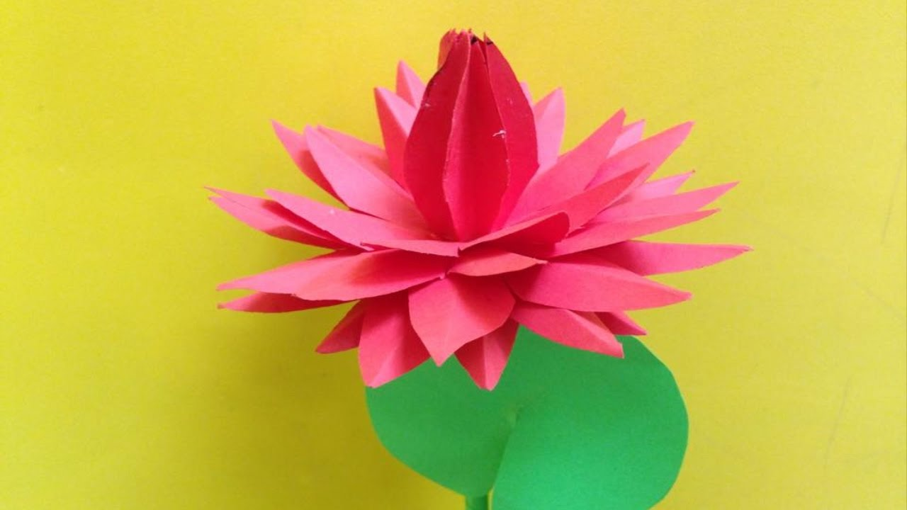 How to make water lily paper flower easy origami flowers for how to make water lily paper flower easy origami flowers for beginners making diy paper crafts izmirmasajfo Gallery