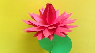 How to make water lily paper flower | Easy origami flowers for beginners making | DIY-Paper Crafts