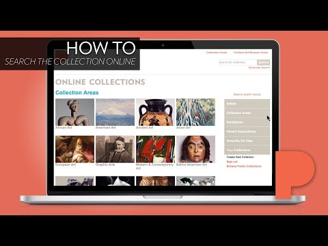 How to search the Portland Art Museum collection online