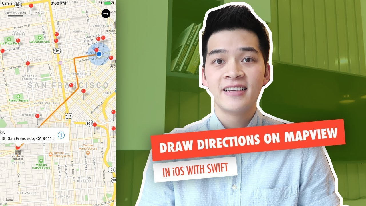 Draw Directions on Map | MapView, MapKit in iOS with Swift