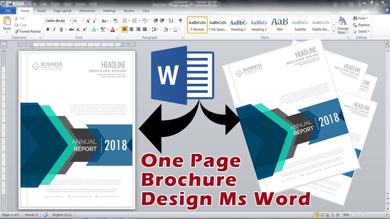 one page brochure design in microsoft office word 2010