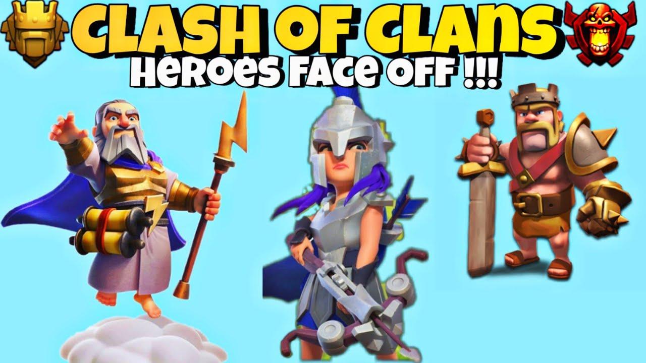 Random Funny Heroes Battle [Grand Warden, Archer Queen and ...