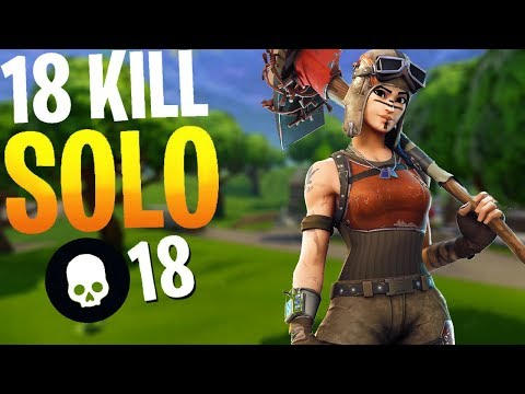 18 KILL SOLO WIN | Fortnite Battle Royale