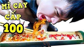 Tony | Thử Thách Ăn Mì Cay 100 Trái Ớt Trong Ống Tre  - Spicy Noodles Level 100