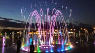 Светомузыкальный фонтан. Чебоксары. 27 мая 2021