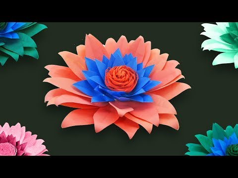 Giant Paper Rose Daisy Making Tutorial | How to make Beautiful flower with paper | DIY Paper Flowers thumbnail