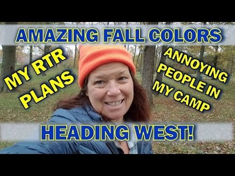Fall Colors at a Free Lakeside Campsite, Heading West and RTR Plans