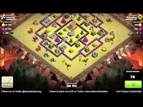 BEST Town Hall Level 8 (TH8) Clan Wars Attack Strategy - Part 1 (Dragons) Clash of Clans