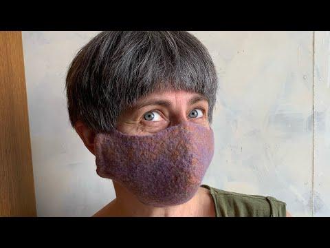 Как сделать маску своими руками. Мокрое валяние шерсти.