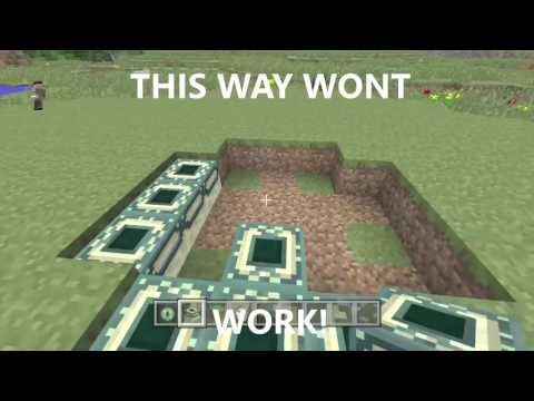 how to build an end portal in minecraft wii u
