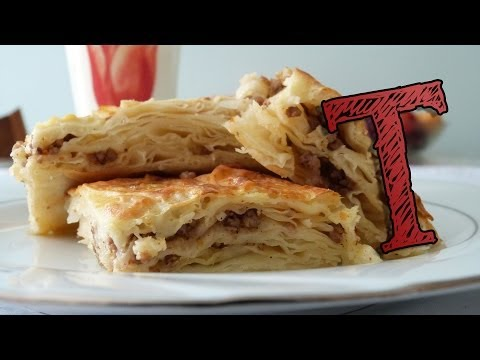 Borek with Ground Meat | Phyllo Pastry Burek with Beef | Bor