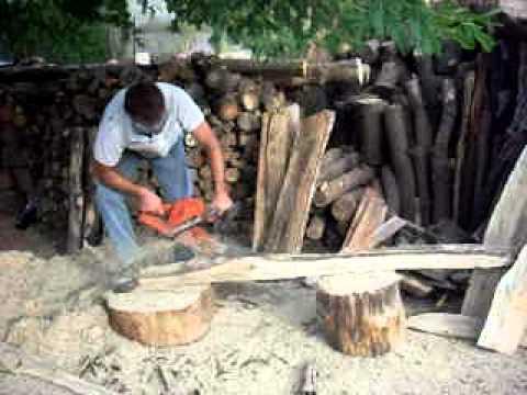 Sacando tablas con motosierra youtube - Sierra para cortar madera ...