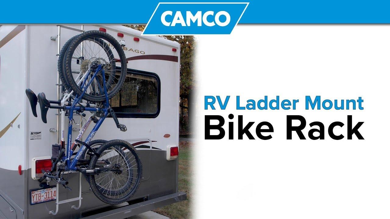 Rv Ladder Mount Bike Rack 2019 Youtube
