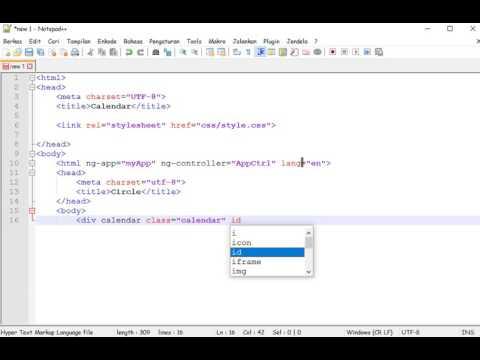 Cara Membuat Kalender Dengan Html Css Dan Javascript Bagian 1