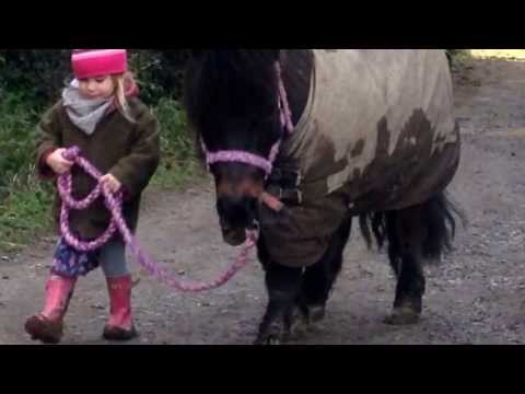 Skye and her Shetland pony