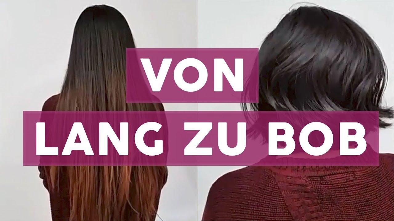 Großes Umstyling Von Langen Haaren Zum Kurzen Bob Ganz Ohne