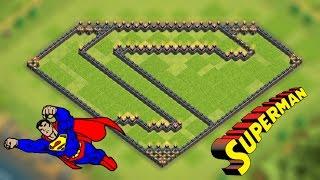 Epic Superman Dark Elixir Farming Base for Town Hall 9 | Clash of Clans