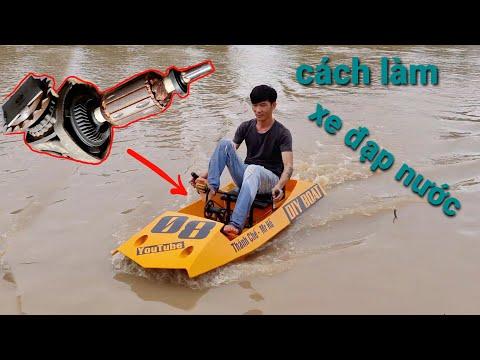 Tự chế xe đạp nước bằng xốp bitis.DIY water bike with foam sheet