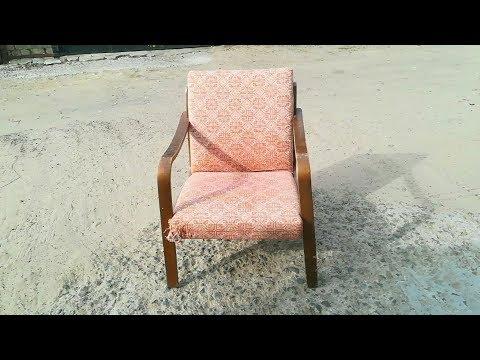 Оригинальная идея переделки из старого кресла.