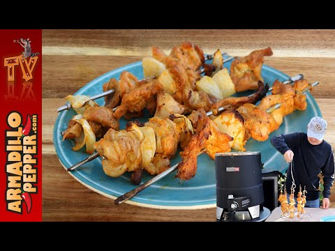 How To Make Kebabs In Big Easy Oil Less Fryer | Chicken Tikka