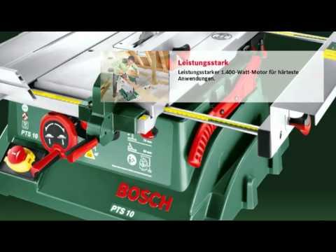 Hervorragend ᐅ Bosch PTS 10 T Tischkreissäge im Test | Säge24 YO49
