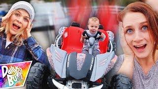 Finn's Power Wheels Escape Plan!