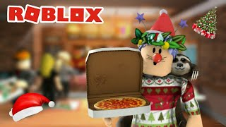 PIZZE DE NEVE? -Roblox (lavoro in un luogo di Pizza)