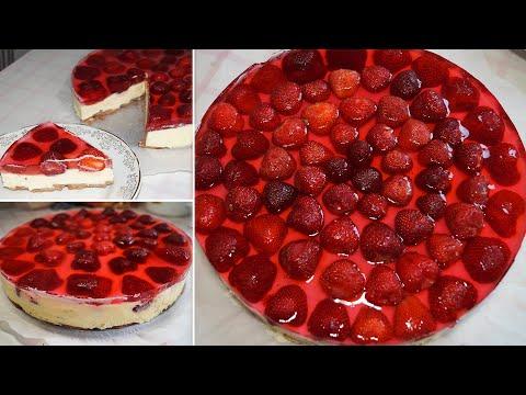 видео: Торт десерт без выпечки, сливочное суфле с клубникой, все просто и вкусно| Анюта Журило