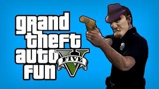 GTA 5 Online Funny Moments - Flare Gun Fight, Pointing Traffic Cop, Kuruma Fun (GTA 5 Heist DLC)