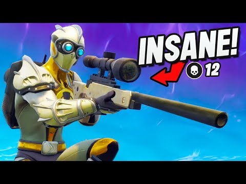 *INSANE* Scopes Only Game! (Fortnite Battle Royale : Sniper Shootout V3 Gameplay)