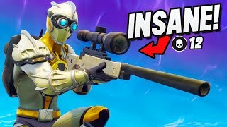 *INSANE* Scopes Only Game! (Fortnite Battle Royale : Sniper Shootout V3 Gameplay)