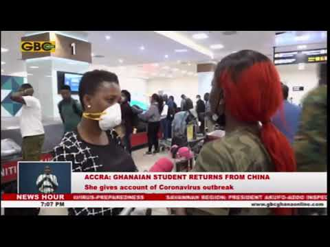 Ghanaian student returning from China gives account of Coronavirus outbreak