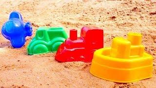 ¡Juega con los moldes de barro! Vídeo para niños. Juegos en el arenal. thumbnail