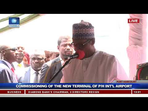 Buhari Inaugurates New Terminal At Port Harcourt International Airport