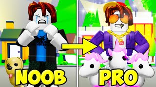He Went From Noob To Pro In Adopt Me! (A Roblox Movie)